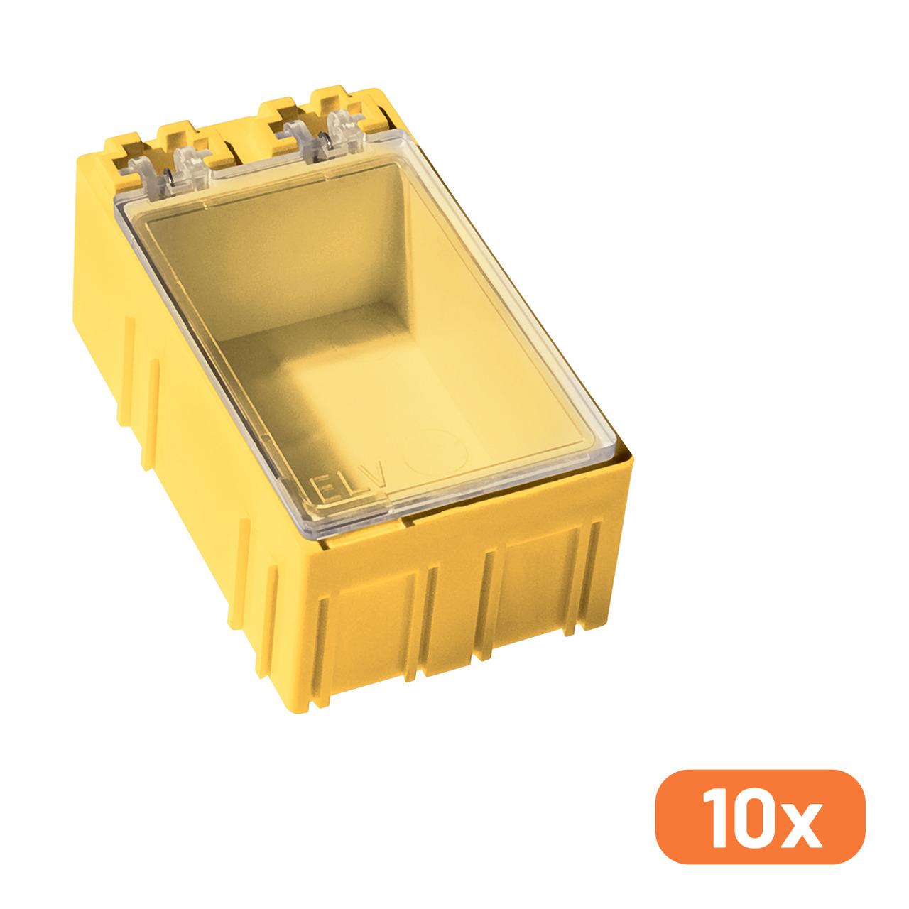 ELV 10er-Set SMD-Sortierbox- Gelb- 23 x 31 x 54 mm