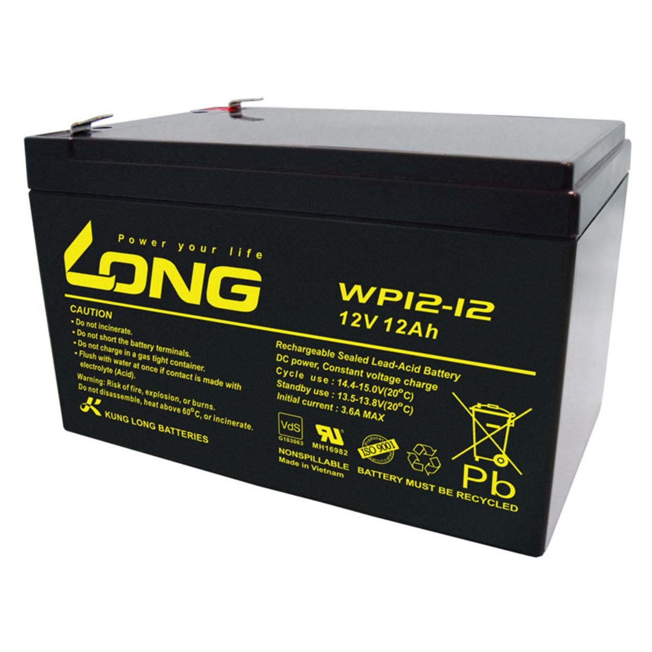 Kung Long VdS-Blei-AGM-Akku WP12-12- 12V- 12 Ah