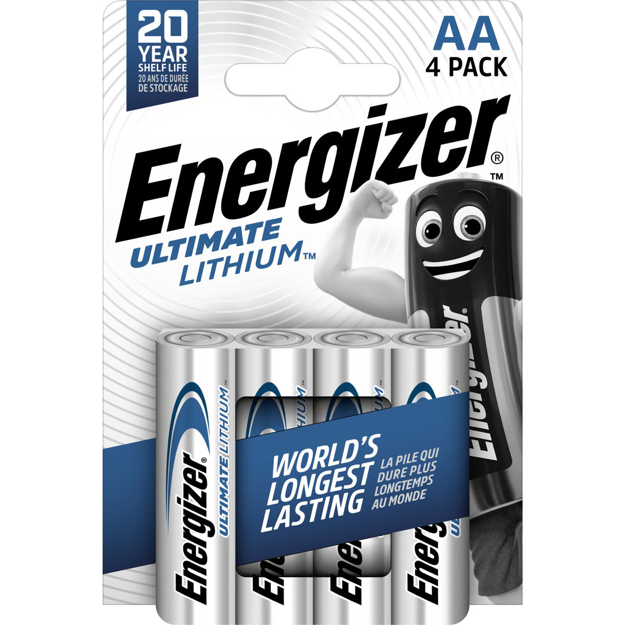 Energizer Ultimate Lithium-Batterie Mignon AA- 1-5V- 3000 mAh- 4er Pack