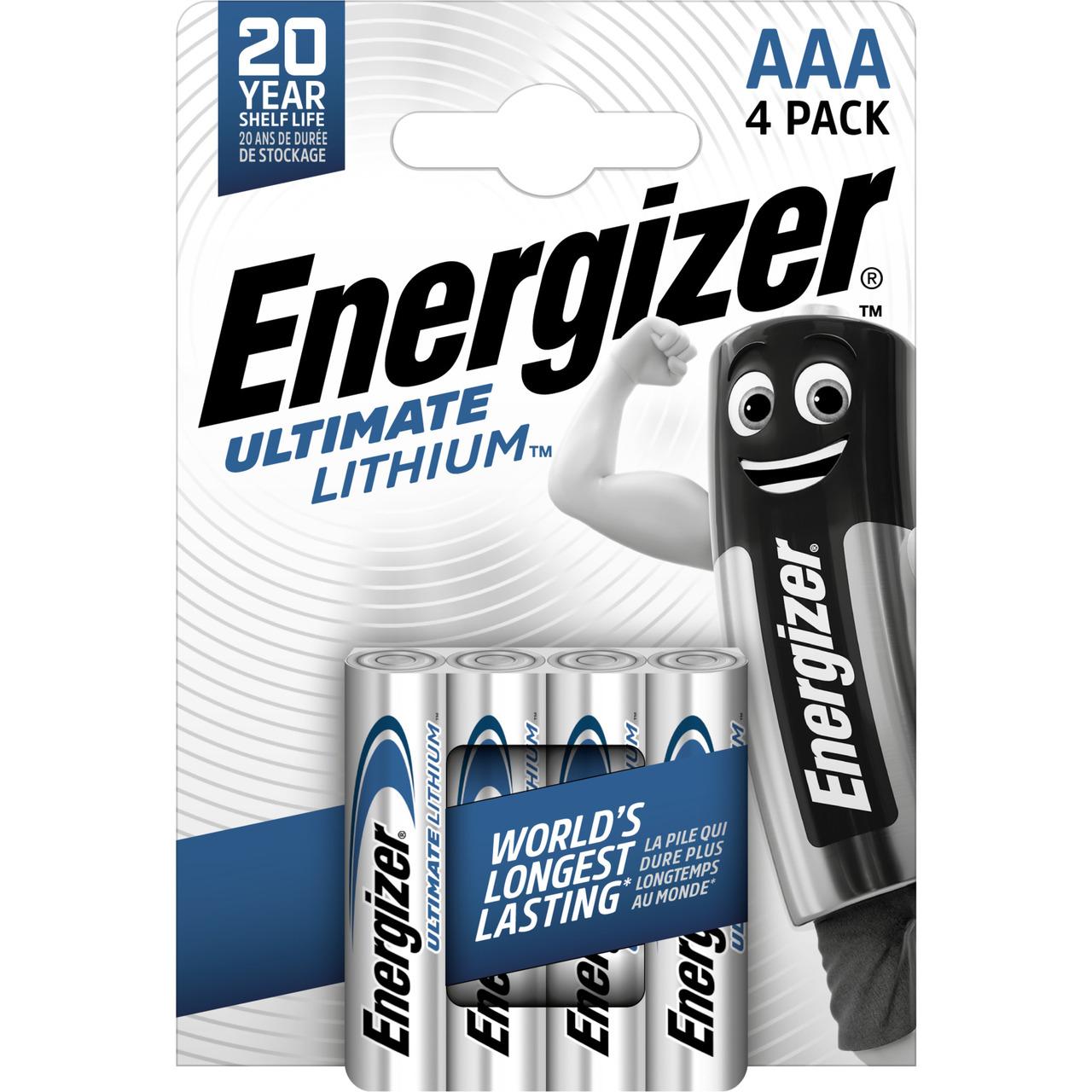 Energizer Ultimate Lithium-Batterie Micro AAA- 1-5V- 1250 mAh- 4er Pack