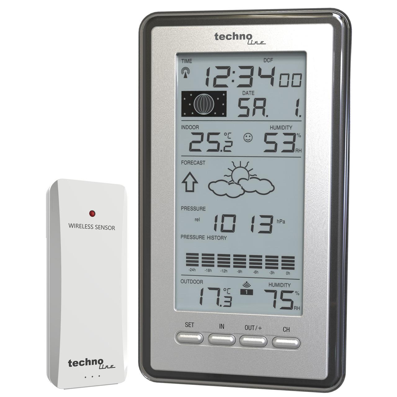 technoline Wetterstation WS 9040- inkl Aussensensor