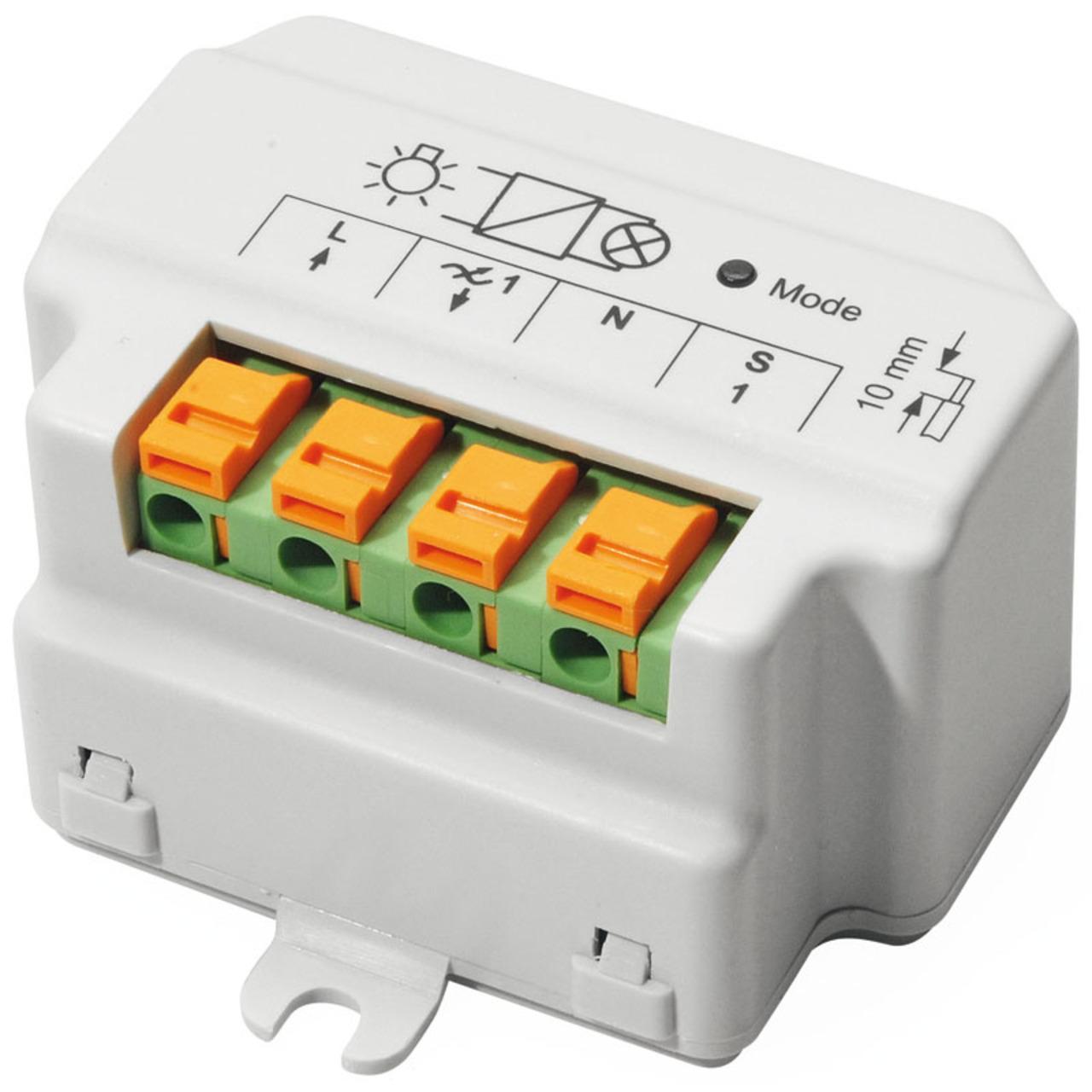 Homematic 1-Kanal-Unterputzdimmer- Phasenabschnitt HM-LC-Dim1T-FM für Smart Home / Hausautomation