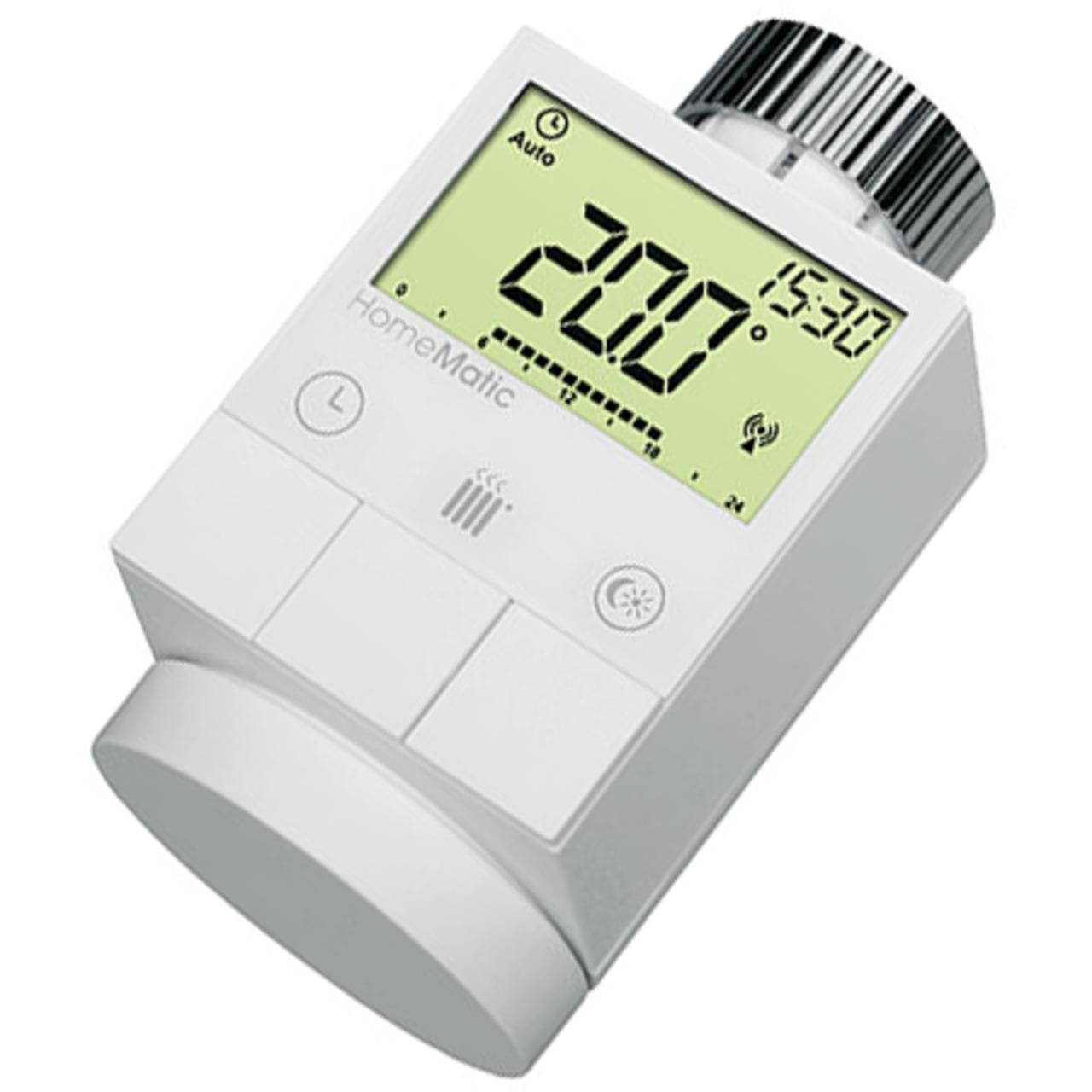 Homematic Funk-Heizkörperthermostat HM-CC-RT-DN für Smart Home / Hausautomation
