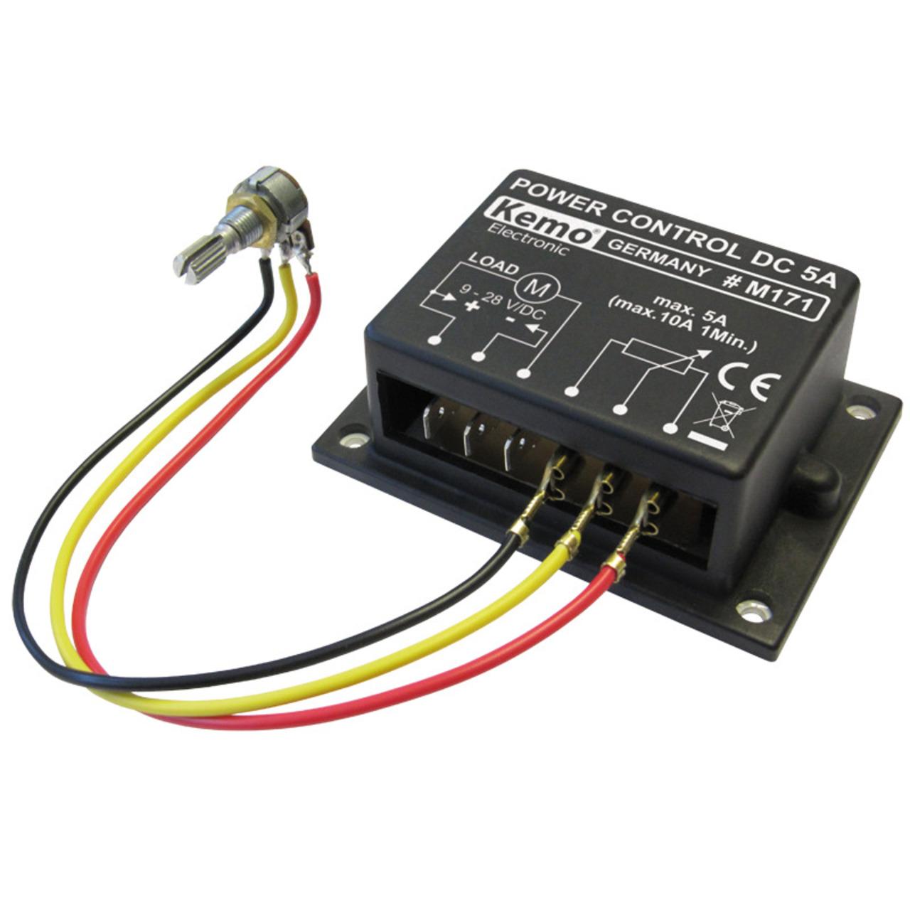 Kemo PWM-Leistungsregler 9–28 V/DC- max. 10 A