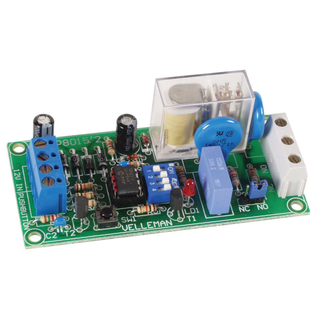 Velleman Bausatz Multifunktionales Relaismodul K8015