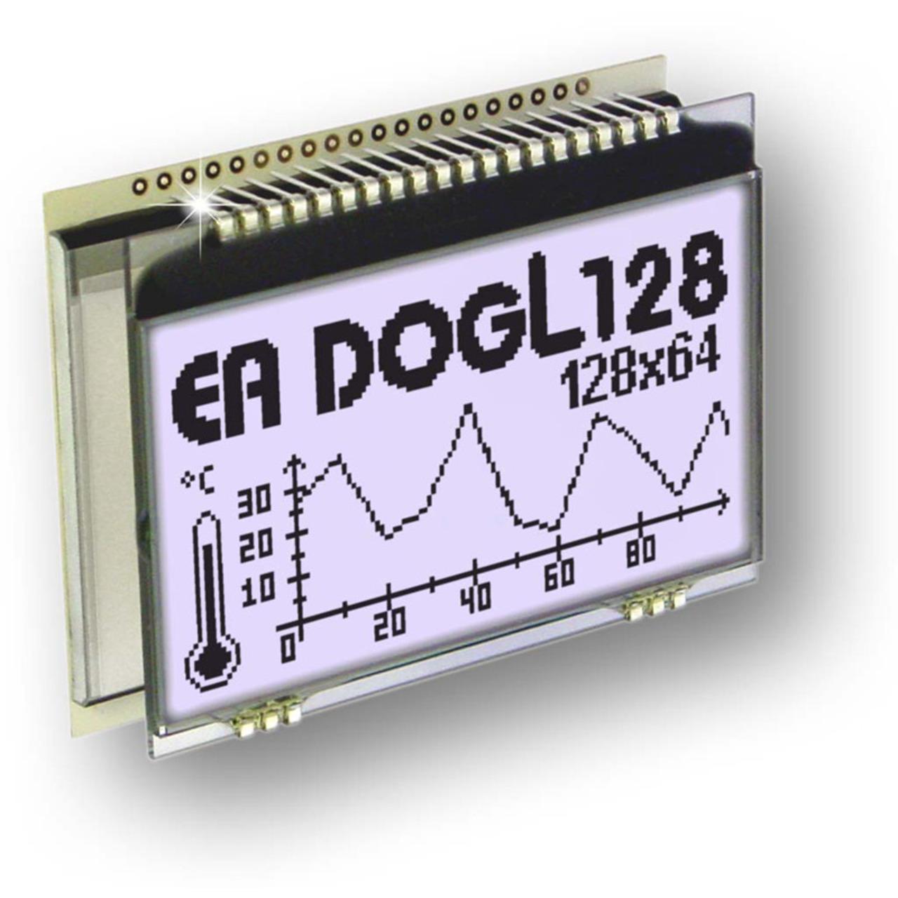 Electronic Assembly LCD-Grafikdisplay EA DOGL128W-6 128x64 Pixel