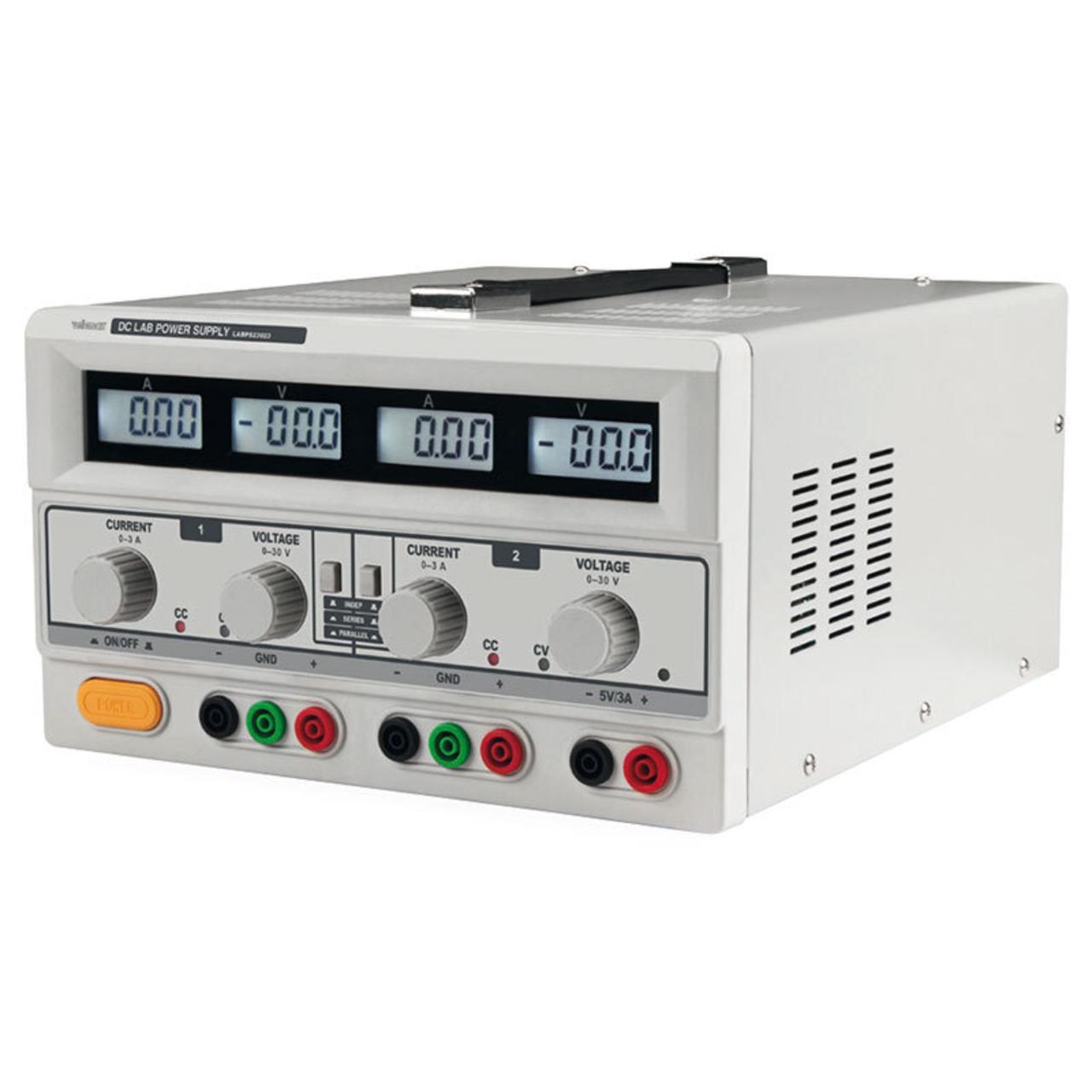 Velleman Labornetzgerät LABPS23023 0–30 V/3 A mit 4 LC-Displays
