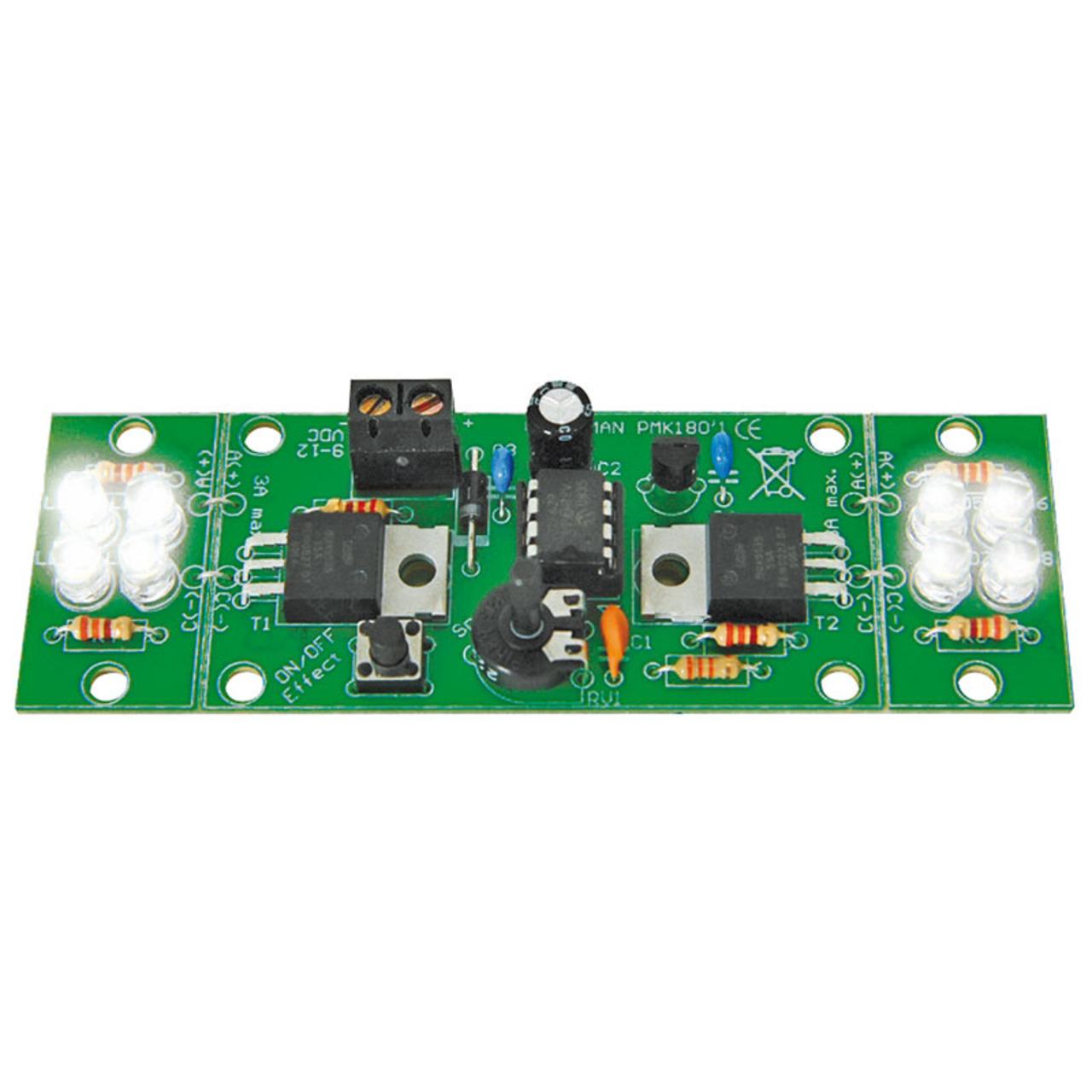 Velleman Bausatz 2-Kanal High-Power LED-Blinkleuchte MK180