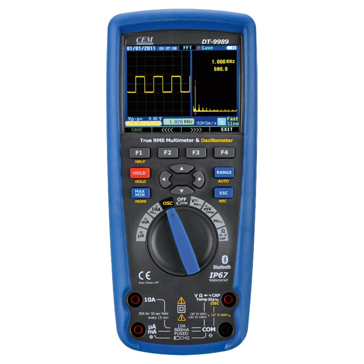 CEM Digital Multimeter DT-9989 mit True RMS + Oszilloskop