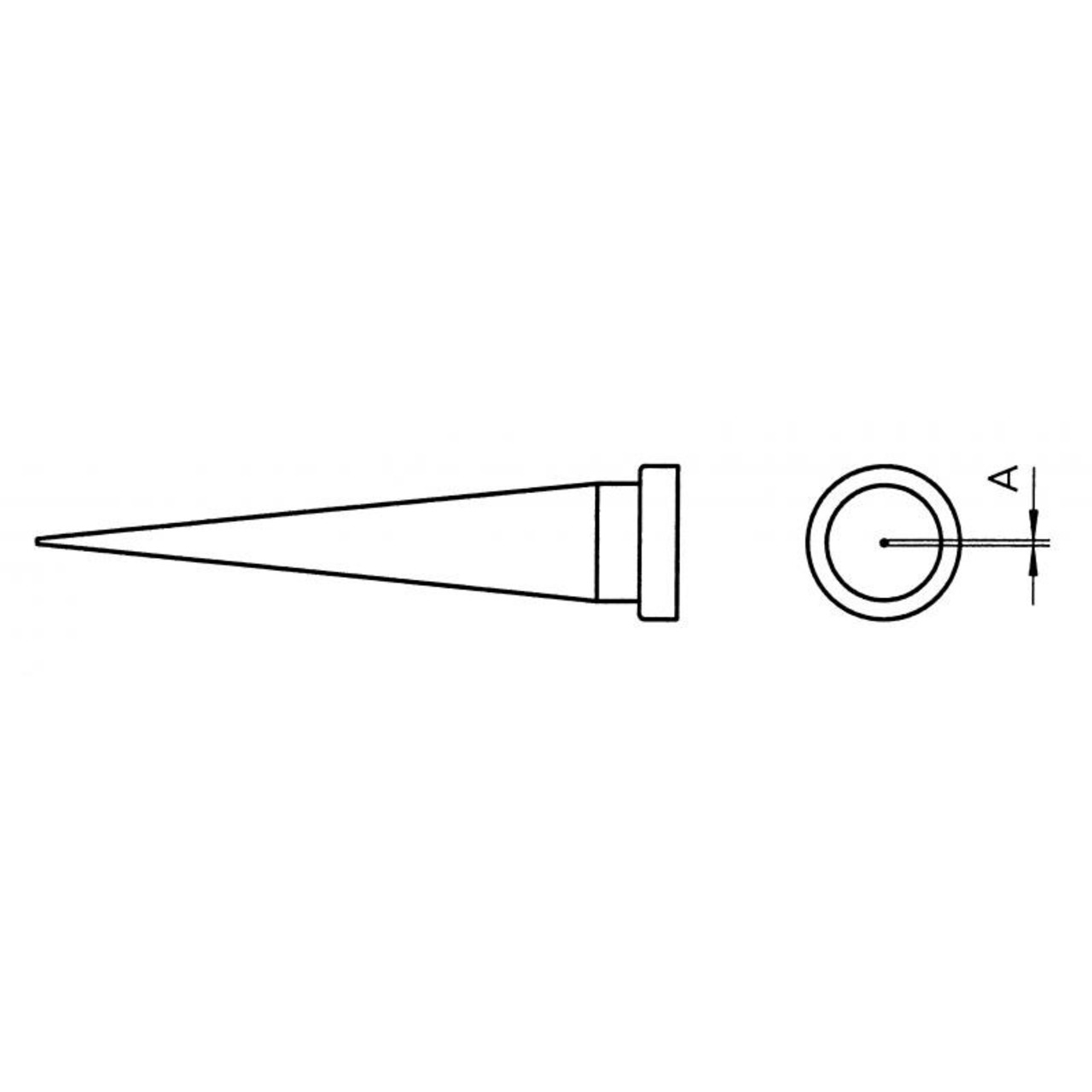 Weller Ersatzlötspitze LT S- konisch- 0-4 mm