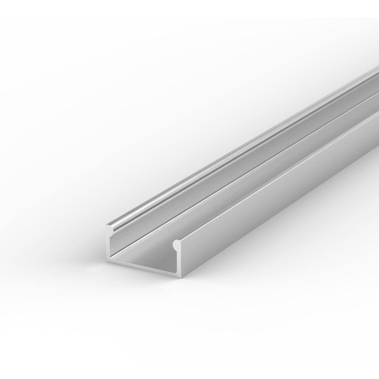 1-m-Aluminiumprofil P4-1 für LED-Streifen- mit matter Abdeckung- inkl. Endkappen