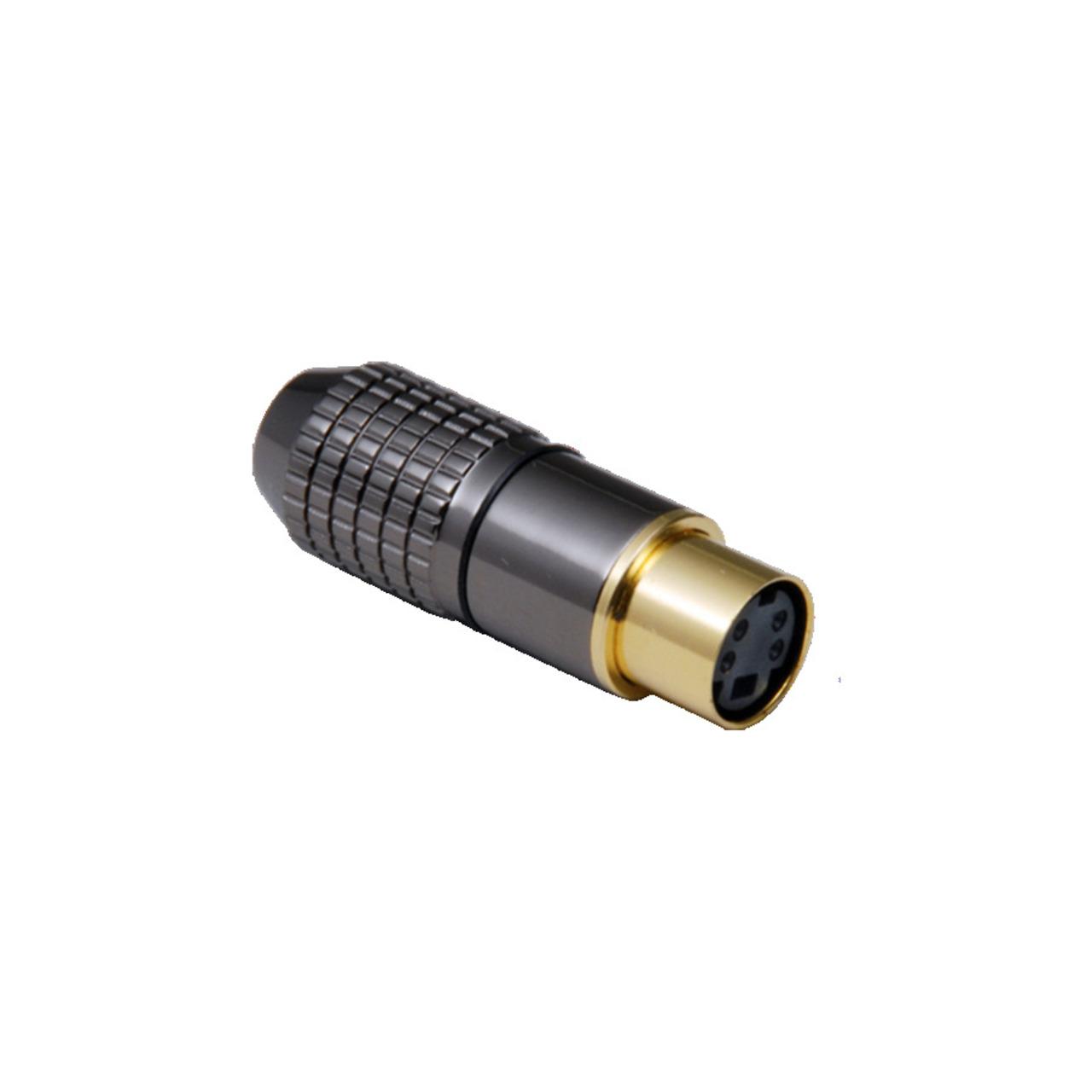 BKL Electronic Mini-DIN-Kupplung 6-pol.- hochwertige Metallausf.- Anschlüsse und Kontakte vergoldet