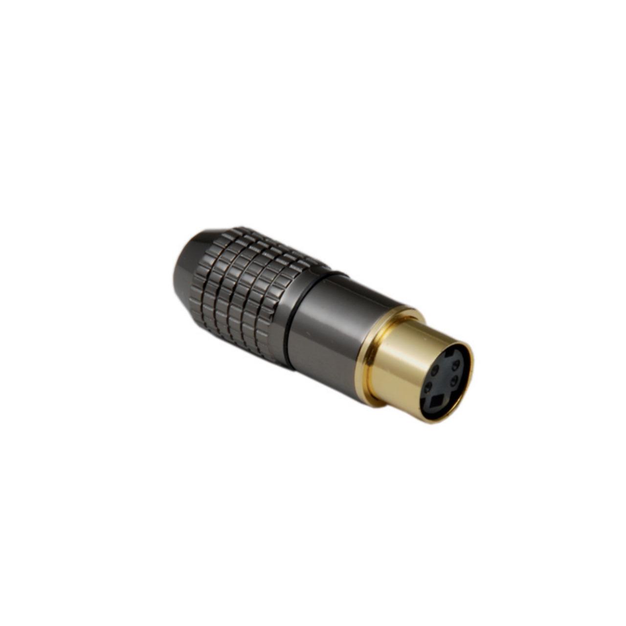 BKL Electronic Mini-DIN-Kupplung 8-pol.- hochwertige Metallausf.- Anschlüsse und Kontakte vergoldet