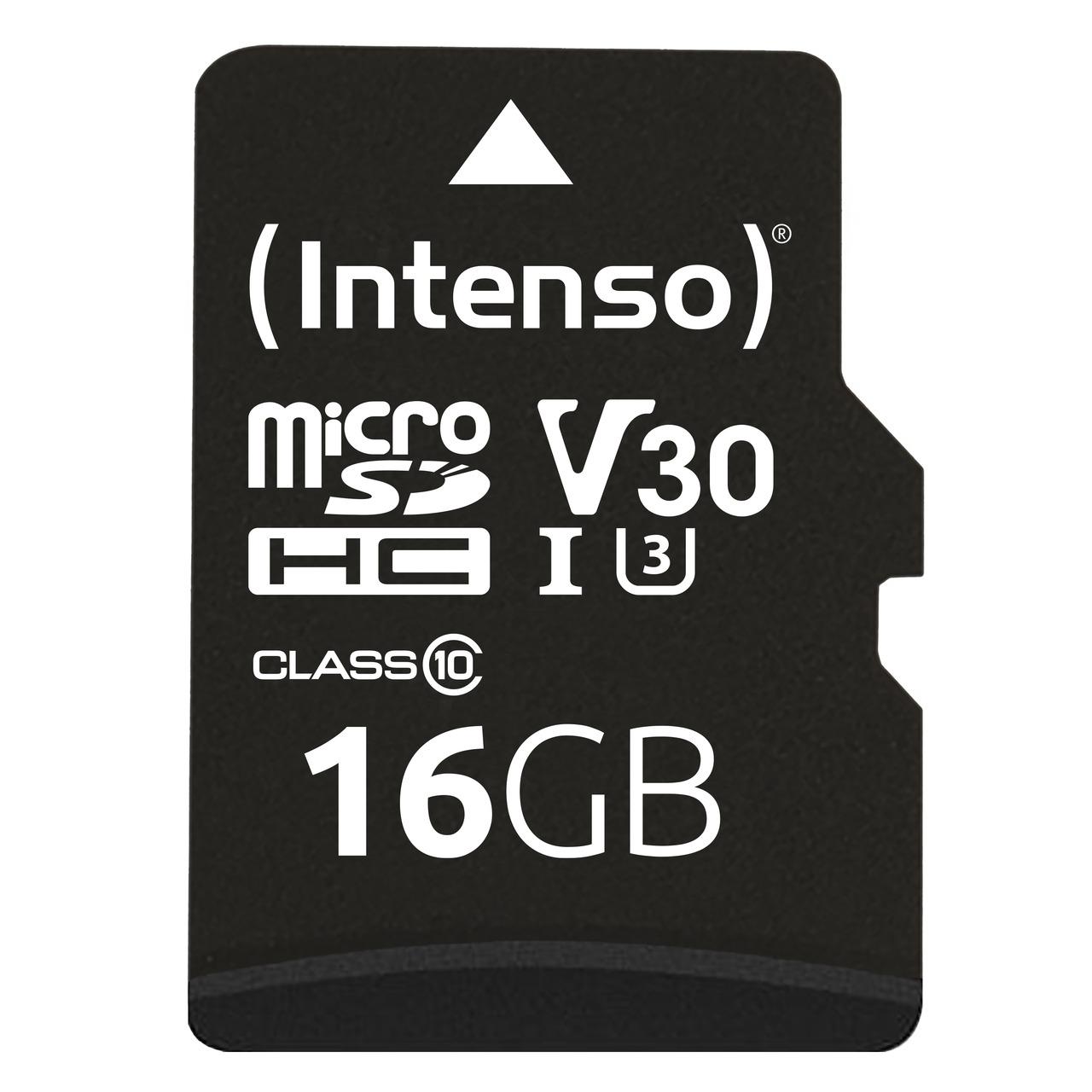 Intenso SDHC-Speicherkarte- UHS-I- 90 MB/s- 16 GB