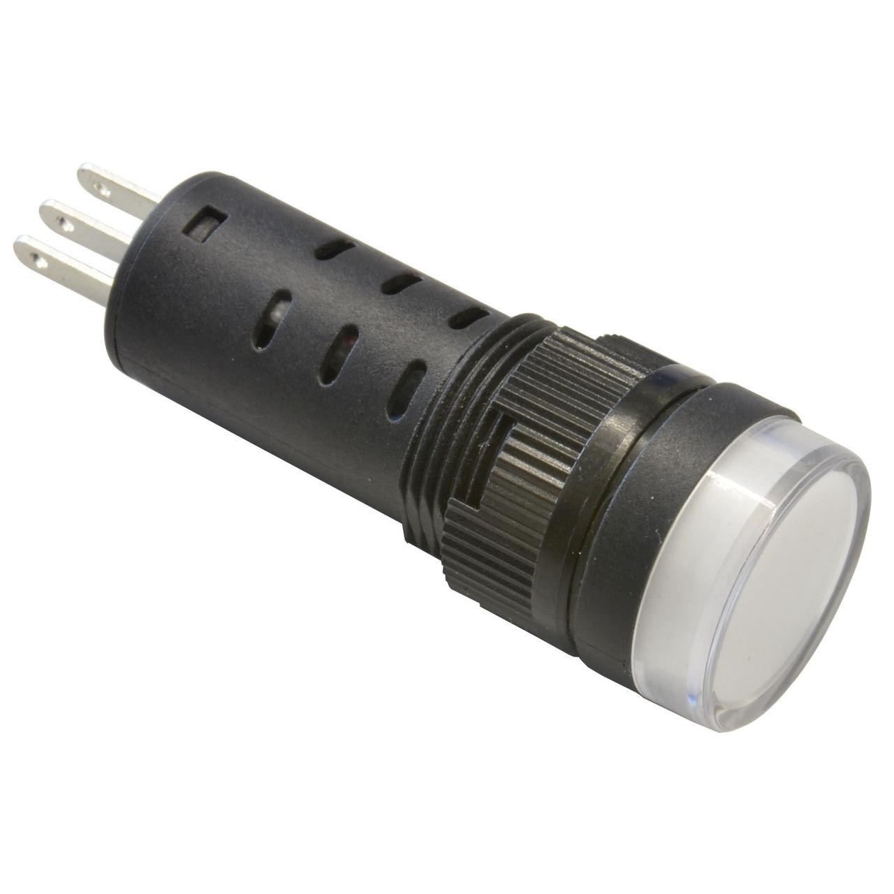 Barthelme LED-Signalleuchte- Einbaudurchmesser 16 mm- 230 V- rot/grün