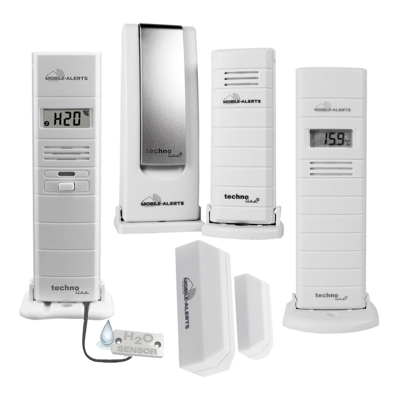ELV Mobile Alerts Wetterset (Gateway- Temperatursensor- 2x Thermo-/Hygrosensor- Fensterkontakt)