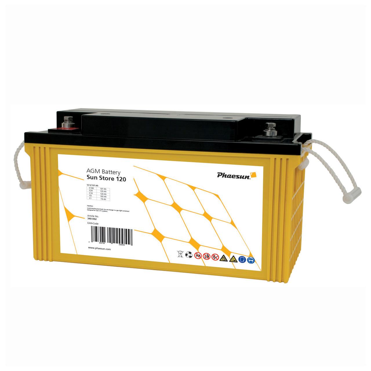 Phaesun Blei-AGM-Akku Sun Store 120- 12 V- 150 Ah