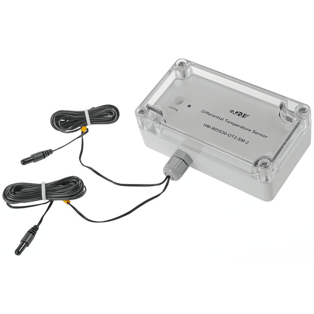 Homematic Differenz-Temperatur-Sensor HM-WDS30-OT2-SM-2 für Smart Home / Hausautomation