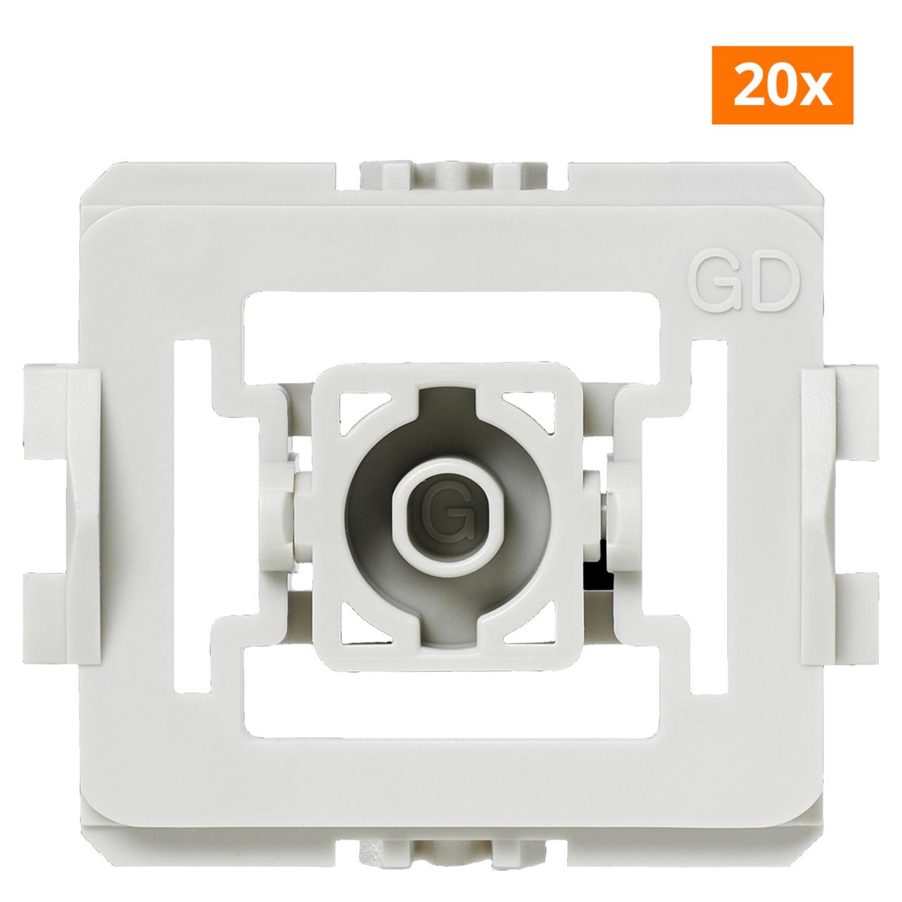 Installationsadapter für Gira Standard Schalter- 20er-Set für Smart Home / Hausautomation