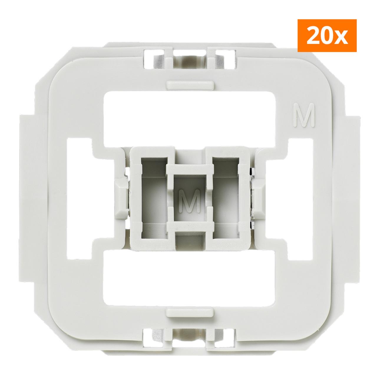 Installationsadapter für Merten-Schalter- 20er-Set für Smart Home / Hausautomation