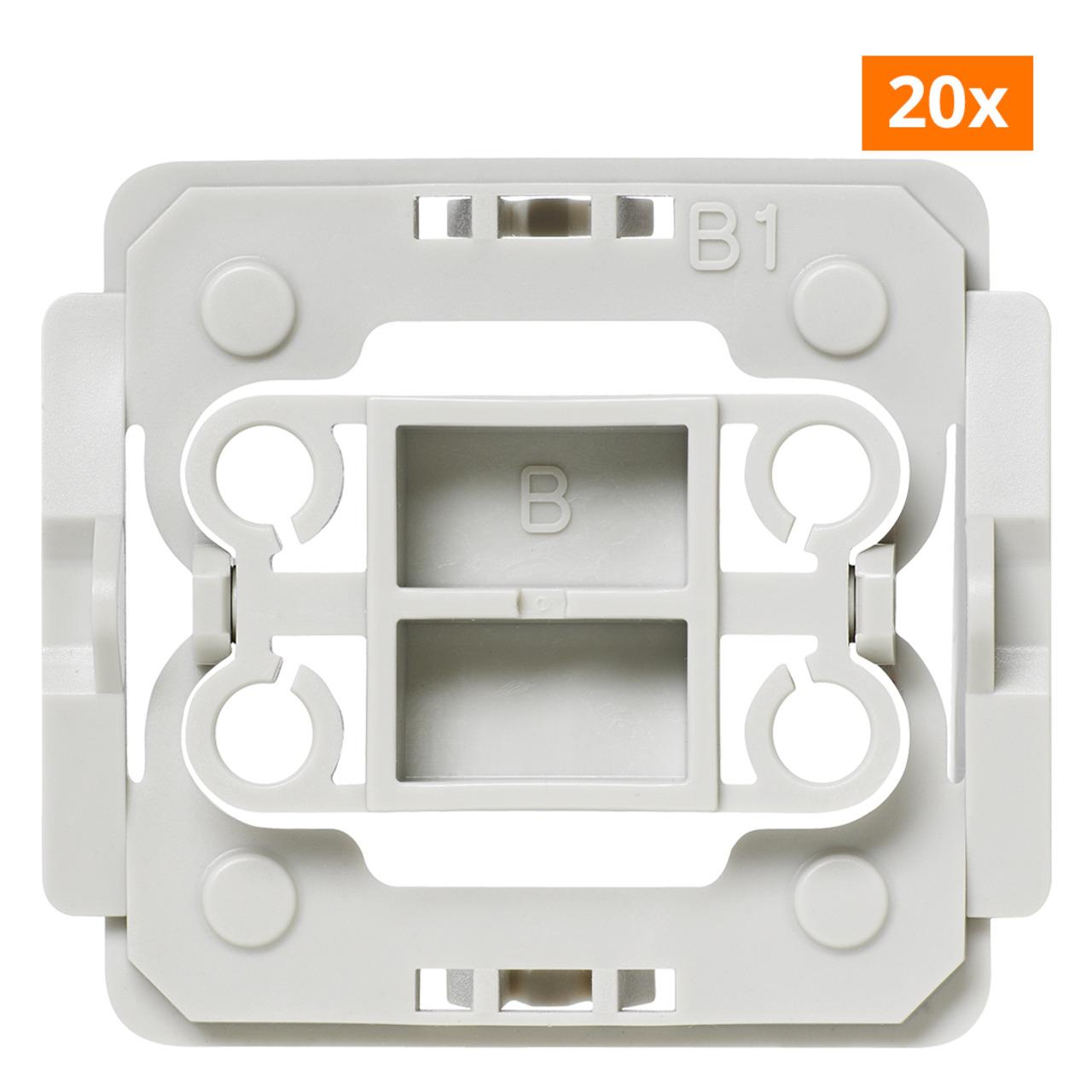 Installationsadapter für Berker-Schalter- B1- 20er-Set für Smart Home / Hausautomation