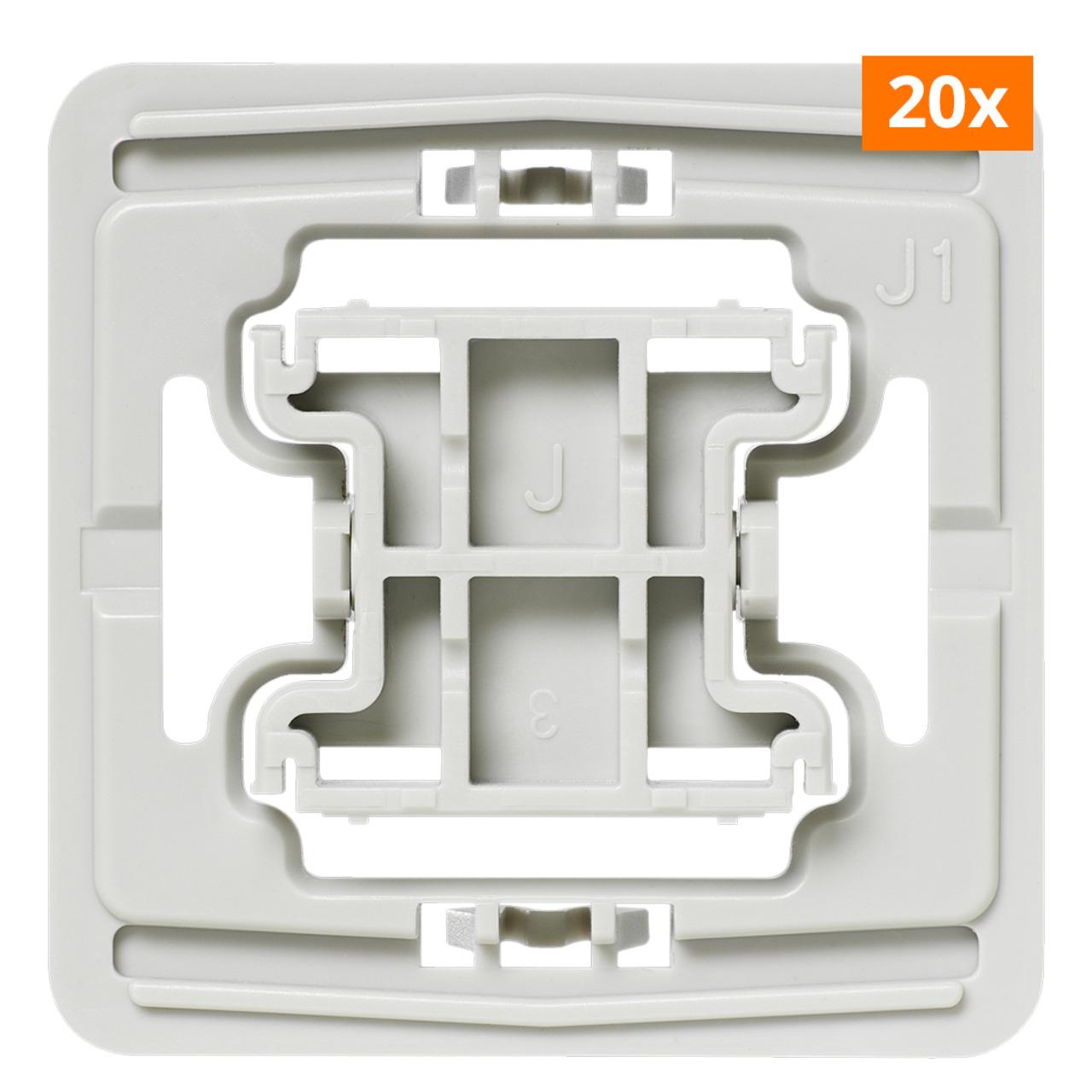 Installationsadapter für Jung-Schalter- J1- 20er-Set für Smart Home / Hausautomation