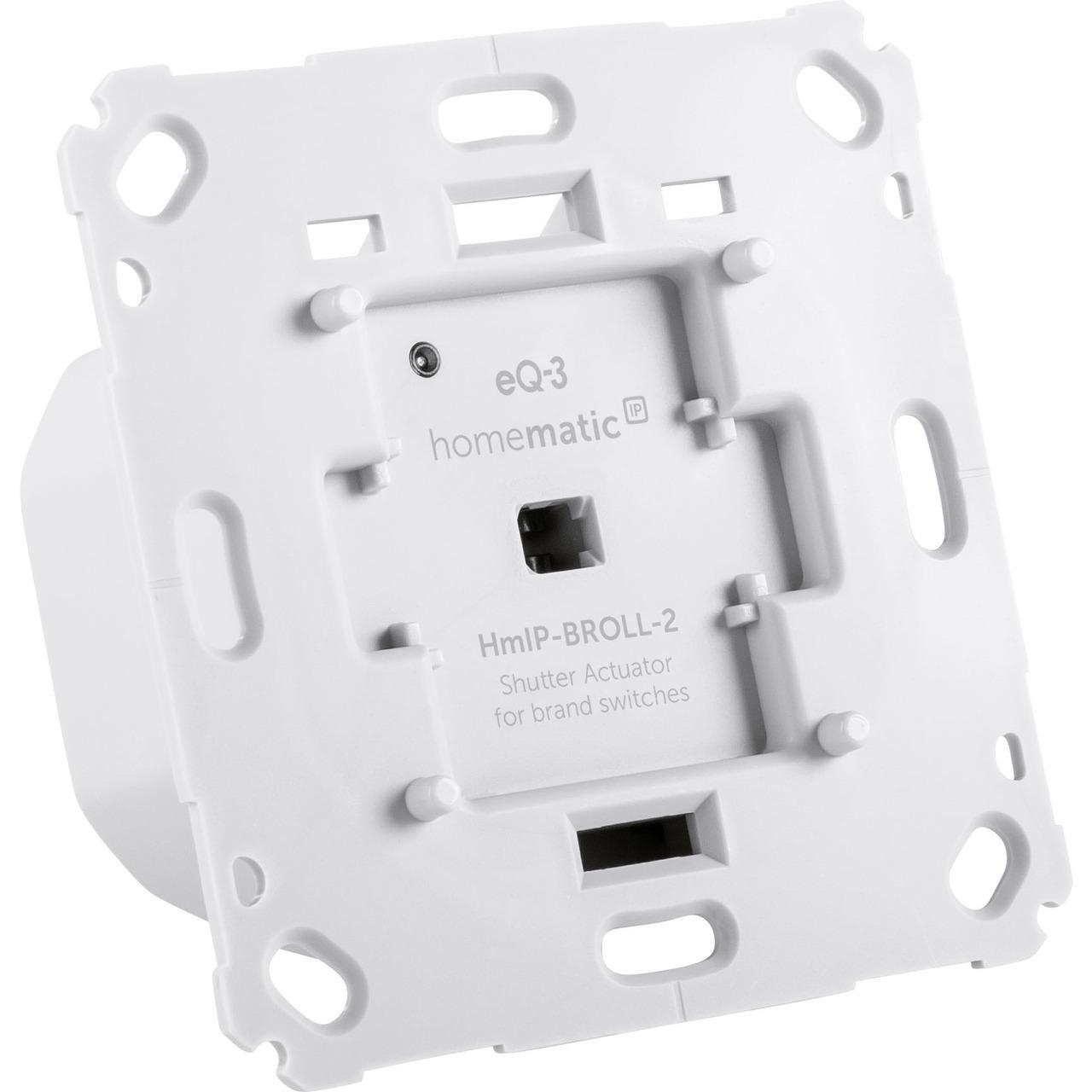 Homematic IP Smart Home Rollladenaktor HmIP-BROLL für Markenschalter- auch für Markisen geeignet