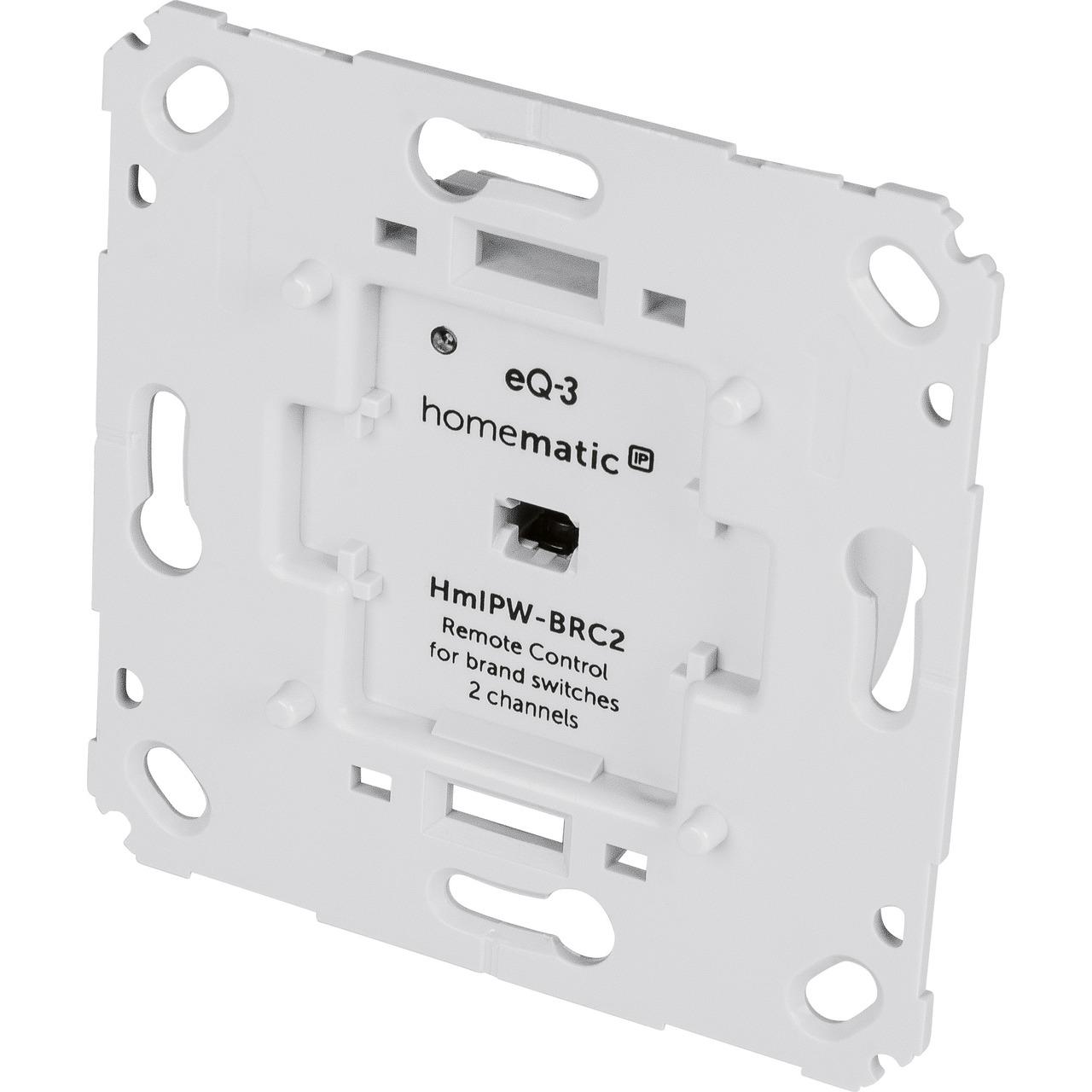 Homematic IP Wired Smart Home Wandtaster für Markenschalter HmIPW-BRC2- 2-fach