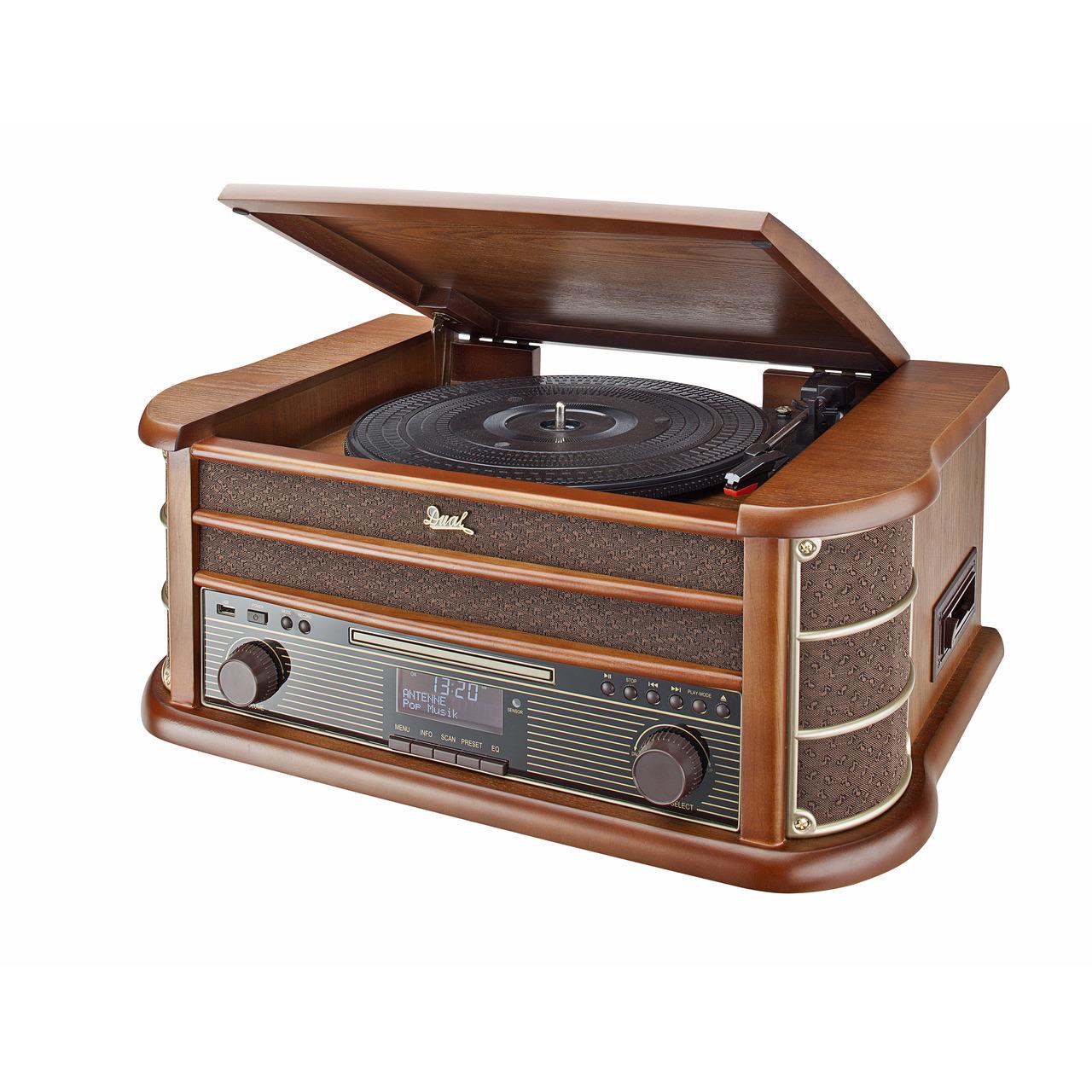 Dual Nostalgie-Stereo-Musikcenter NR 50 DAB- UKW/DAB+- USB- CD-Player- Kassettenlaufwerk