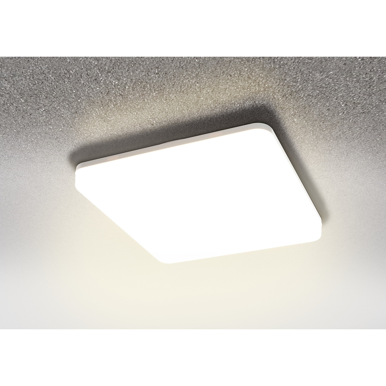 HEITRONIC 18-W-LED-Wand-/Deckenleuchte Pronto mit Bajonett-Anschluss- eckig- warmweiss- IP54