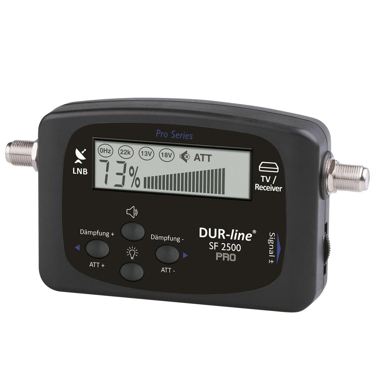 DUR-Line Satfinder SF 2500 Pro- DVB-S/S2-  inkl. Sat-Verbindungskabel (21 cm)