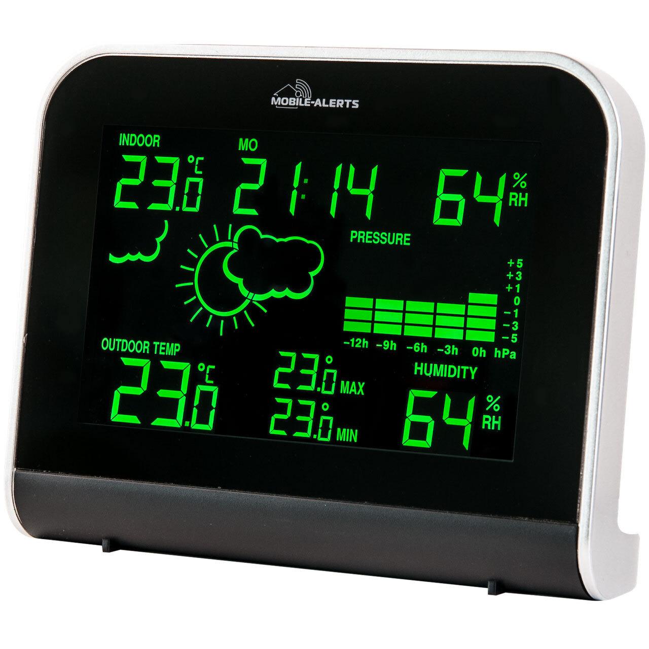 Mobile Alerts RGB-Wetterstation MA10920 inkl. Aussensensor- kompatibel mit Mobile Alerts System