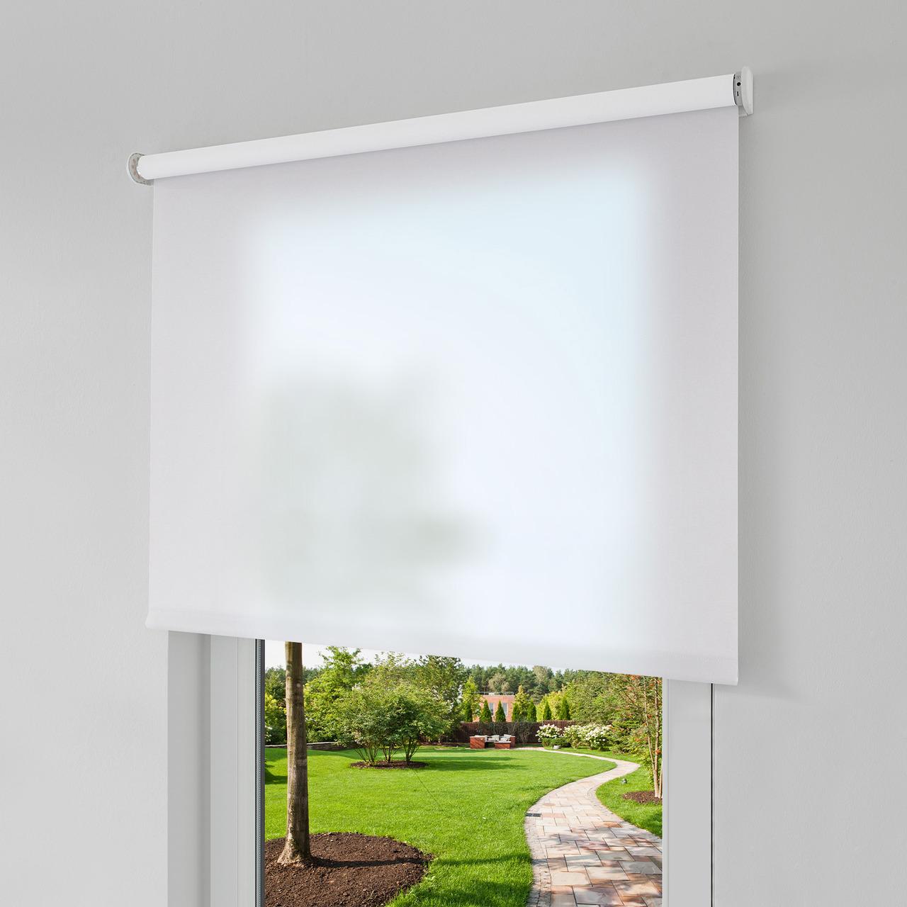 Erfal Smartcontrol Rollo by Homematic IP- 90 x 160 cm (B x H)- halbtransparent tageslicht weiss