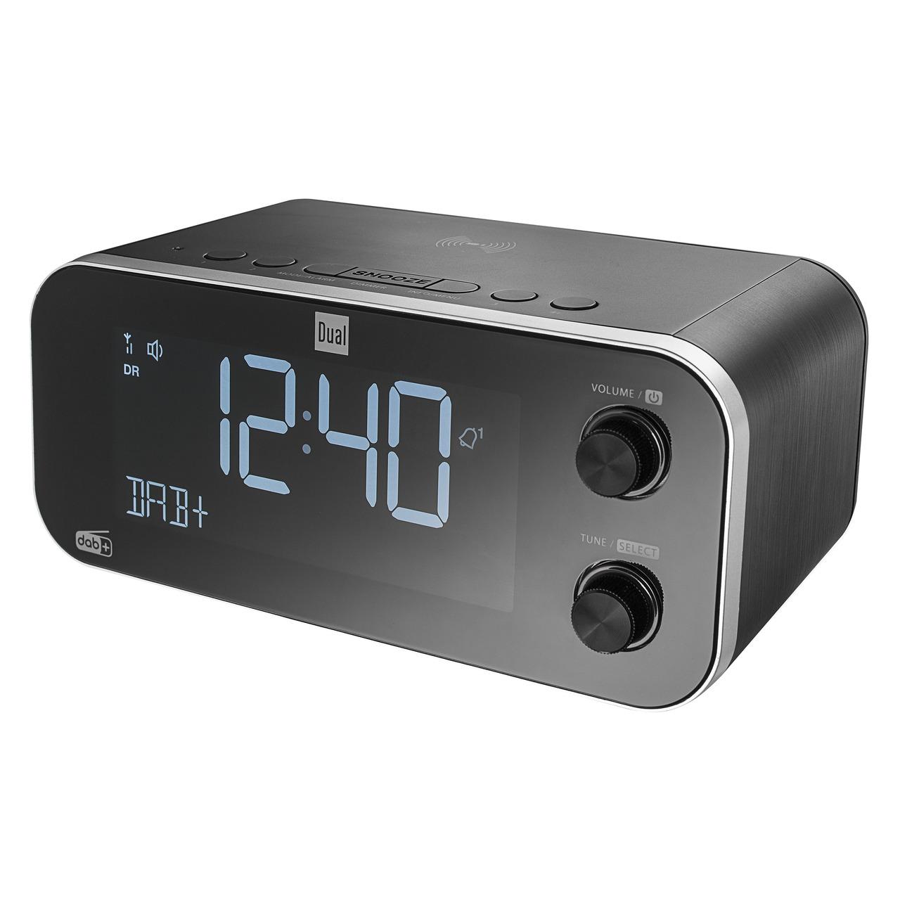 Dual Digitales Uhrenradio DAB CR 30 Black Bird- UKW/DAB+- Induktionsladefunktion