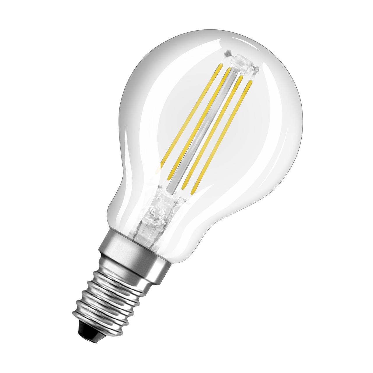 OSRAM 6-5-W-LED-Lampe P45- E14- 806 lm- warmweiss- klar- dimmbar