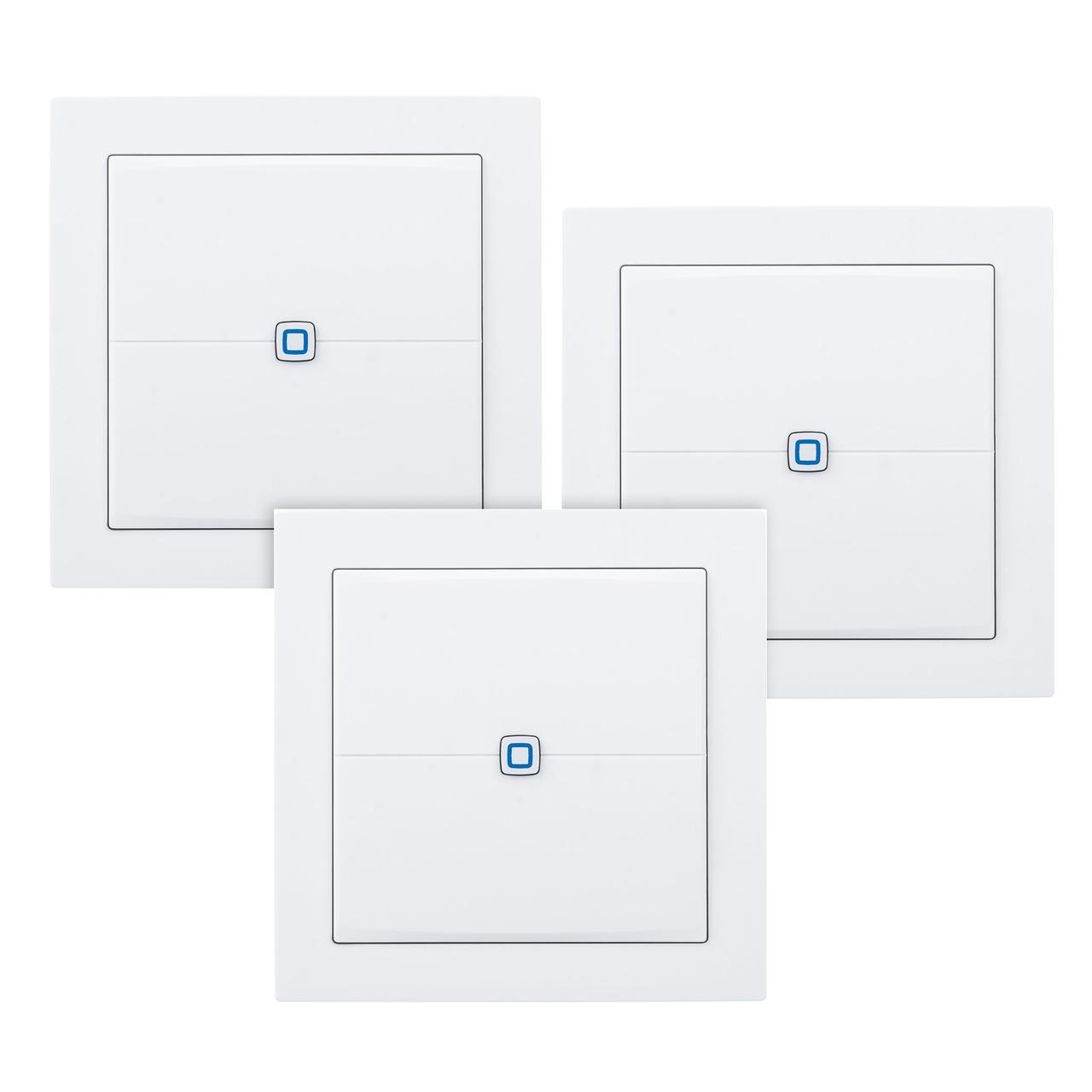 Homematic IP Smart Home 3er Set Wandtaster HmIP-WRCC2– flach