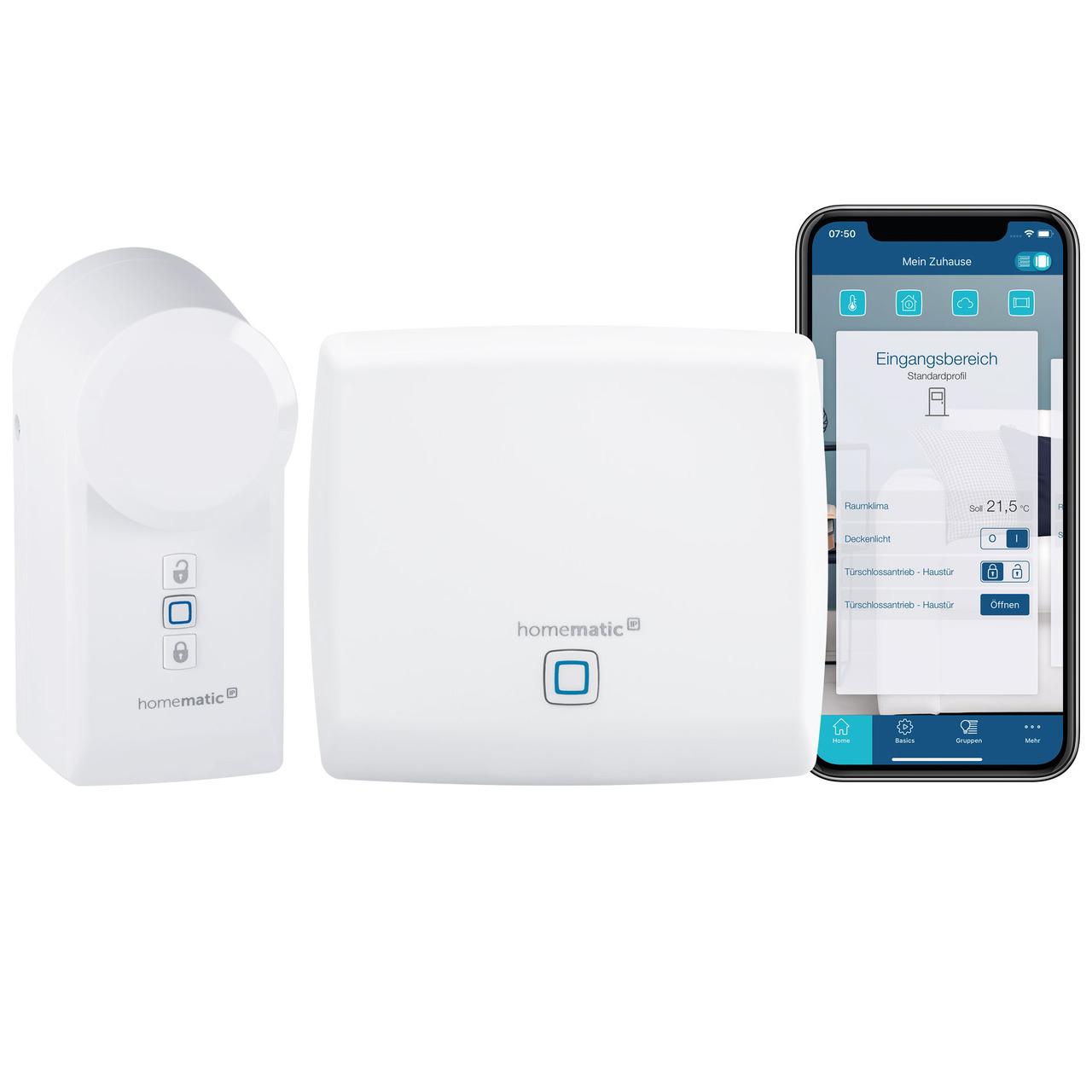 Homematic IP Smart Home Set Türschloss- Access Point + Türschlossantrieb