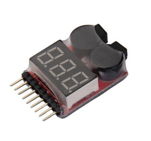 1-8S Lipo-Batterie Tester mit Buzzer und Anzeige
