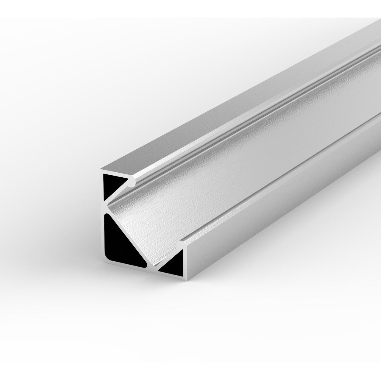 1-m-Aluminiumprofil P3-1 für LED-Streifen- mit matter Abdeckung- inkl- Endkappen