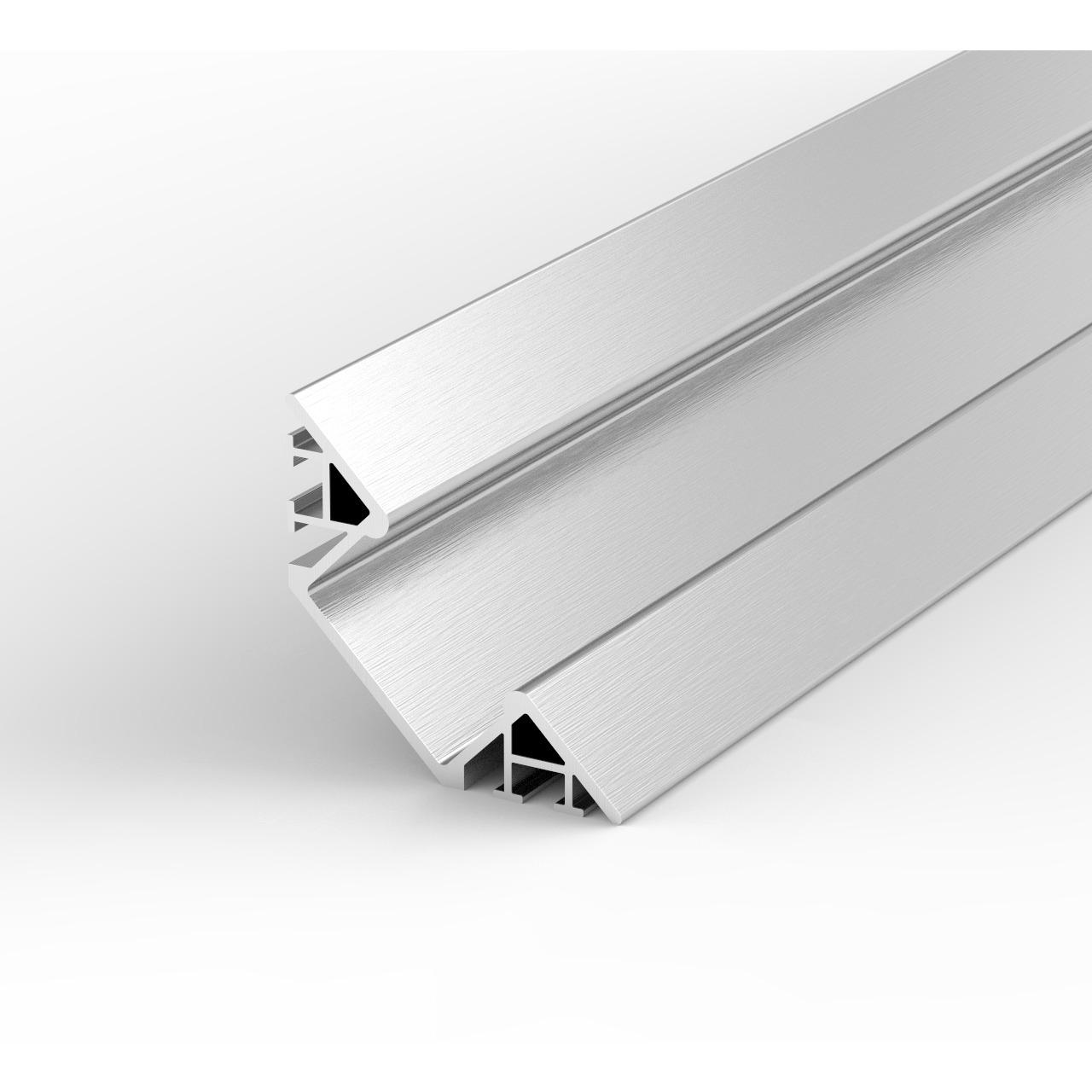 1-m-Aluminiumprofil P7-1 für LED-Streifen- mit matter Abdeckung- inkl- Endkappen