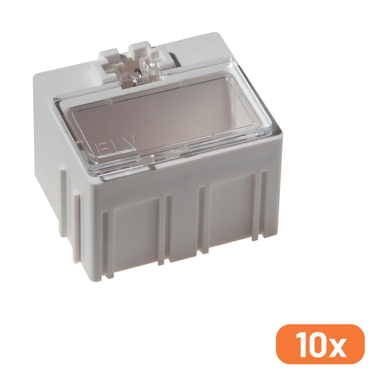10er-Set ELV SMD-Sortierbox- Altweiss- 23 x 31 x 27 mm