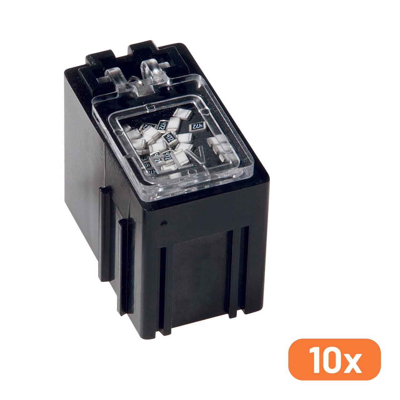 10er-Set ELV SMD-Sortierbox- Antistatik- 23 x 15-5 x 27 mm