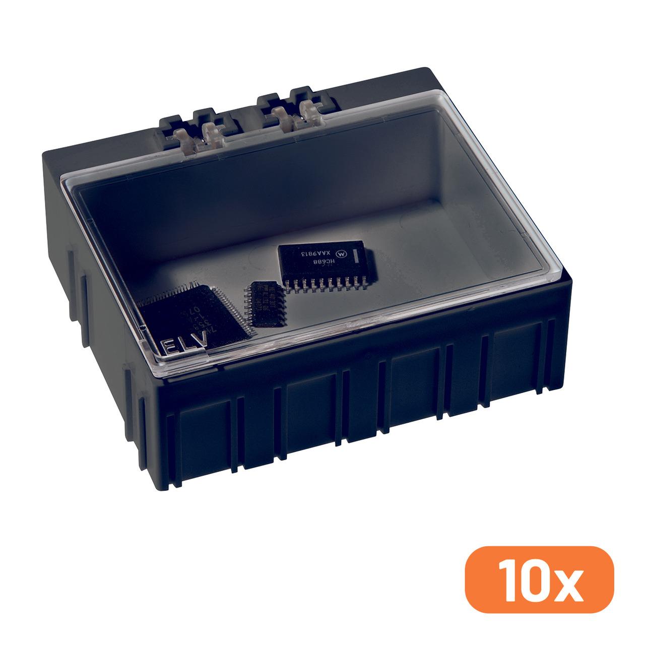 10er-Set ELV SMD-Sortierbox- Antistatik- 23 x 62 x 54 mm