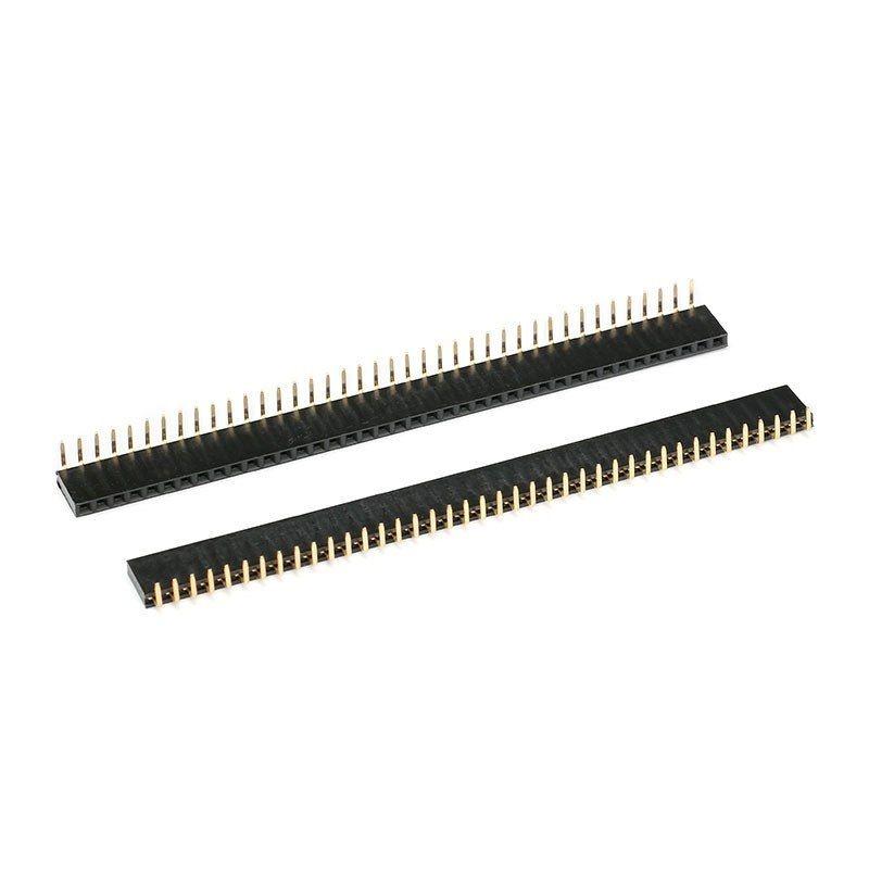 10x 40 Pin 2-54 mm Buchsenleiste gewinkelt einreihig