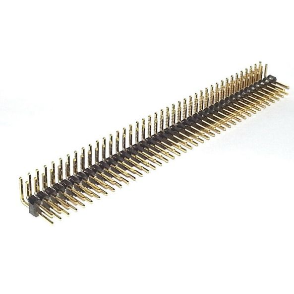 10x 40 Pin 2-54mm Stiftleiste zweireihig gewinkelt