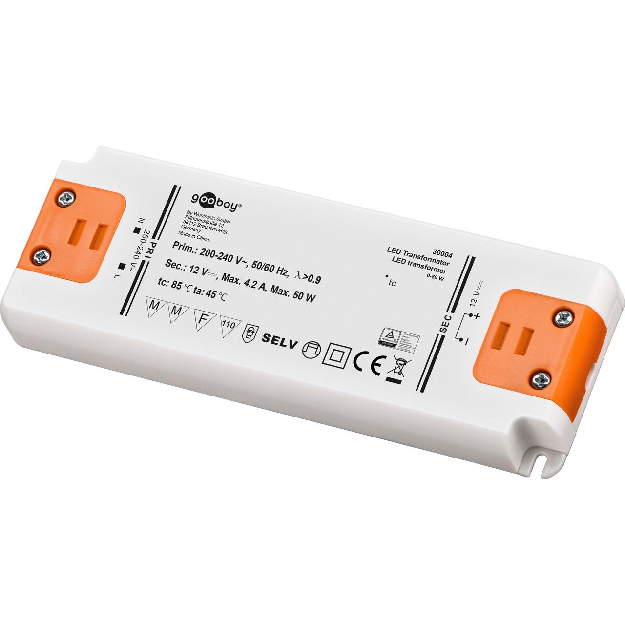 50-W-LED-Netzteil superflach- 12 V DC