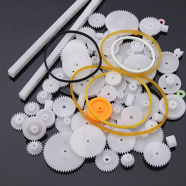 75 Teile Set Zahnräder- Schneckenantriebe- Zahnstange- etc-