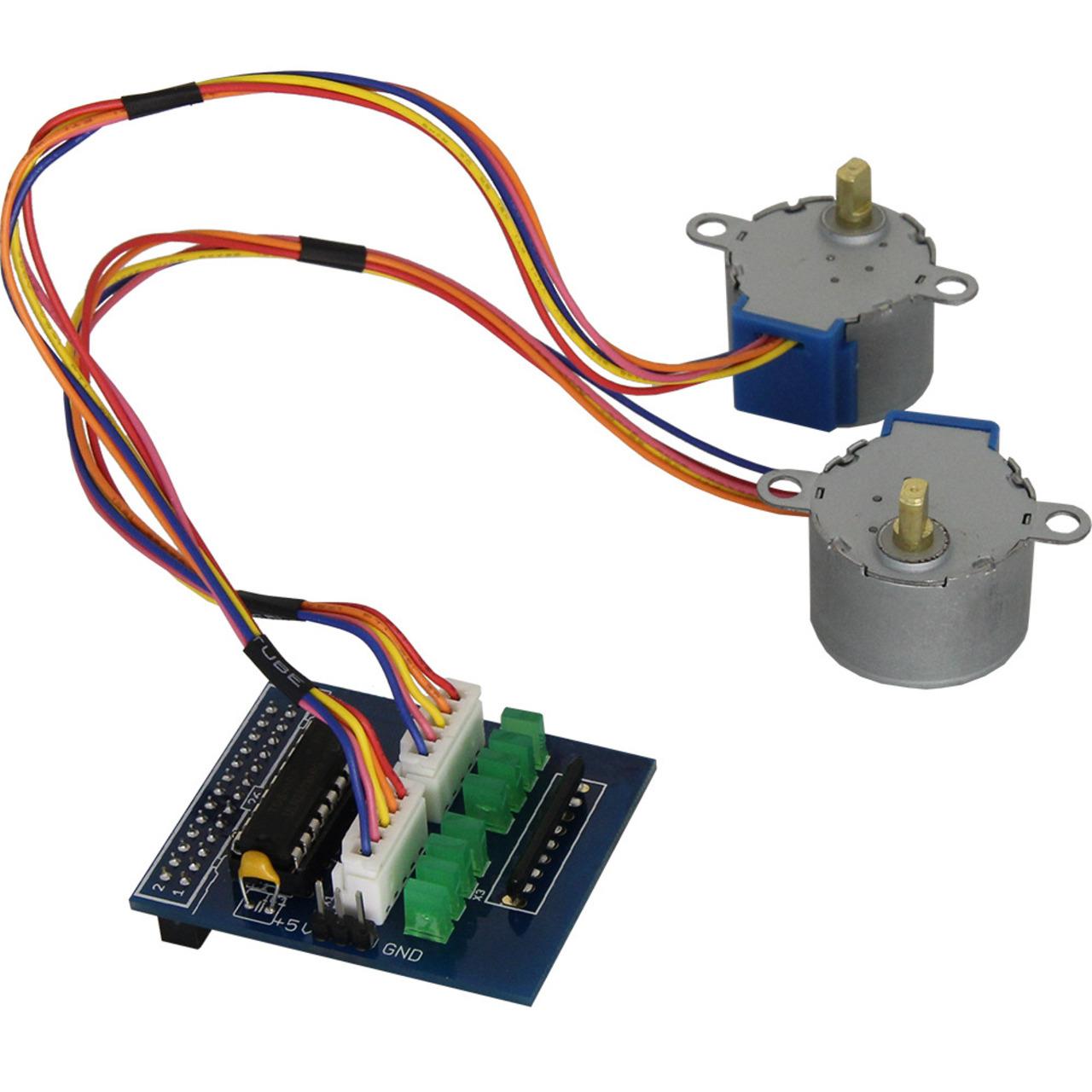 Amerry Motorsteuerung für Raspberry Pi inkl- 2 Schrittmotoren