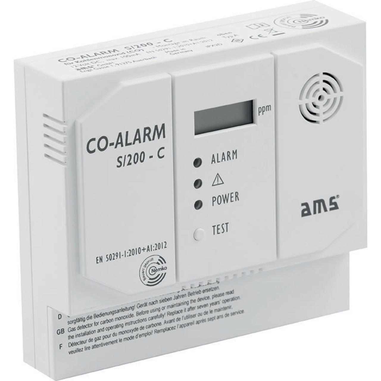 AMS S-200-C Kohlenmonoxidmelder mit Schaltkontakt