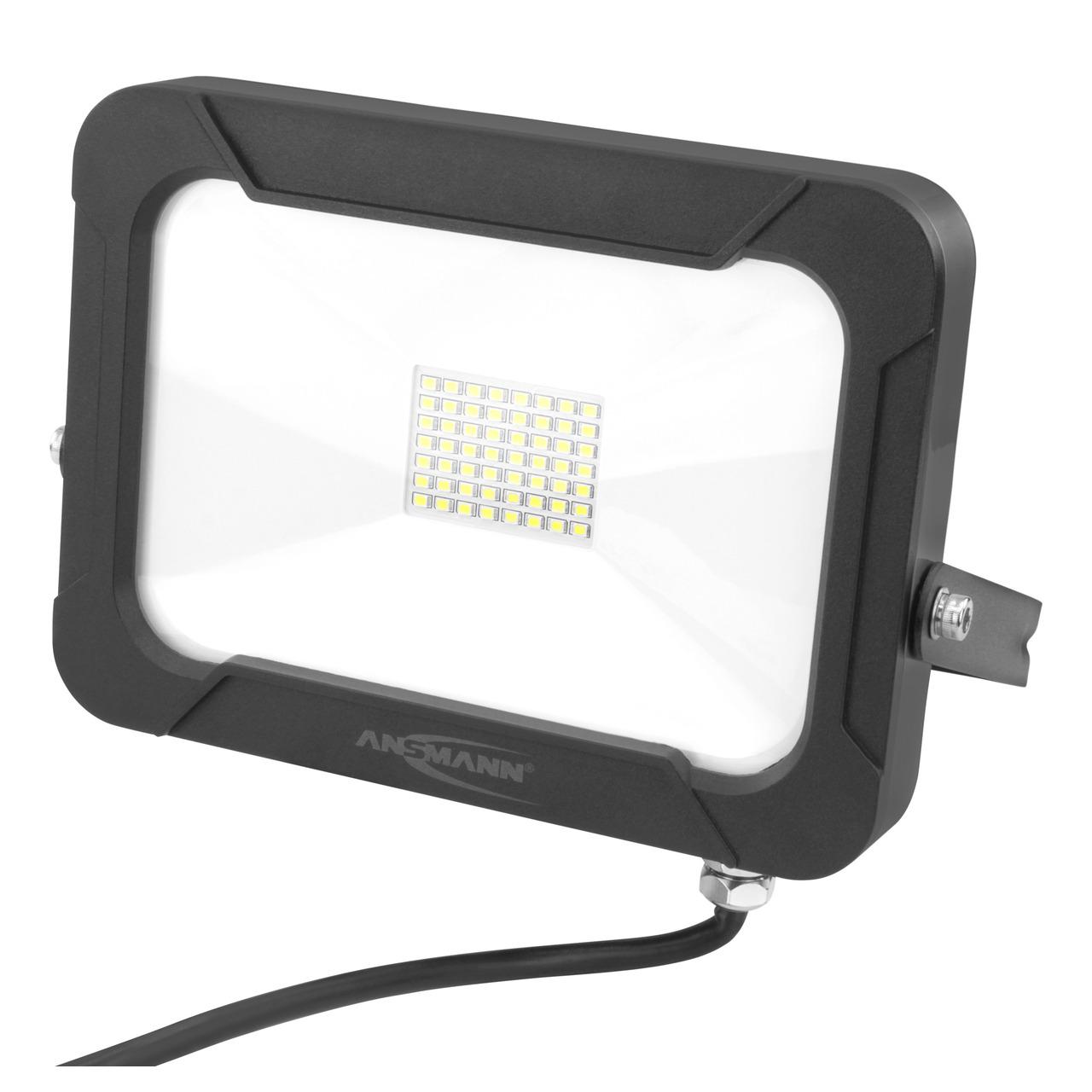 Ansmann 30-W-LED-Flutlichtstrahler WFL2400AC- 2400 lm- 5000 K- IP54- schwarz